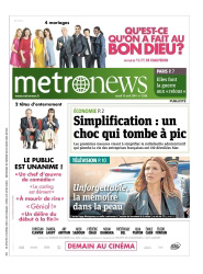 Couverture Metronews