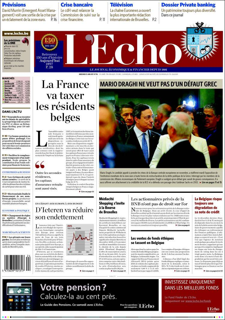 Couverture L'Echo