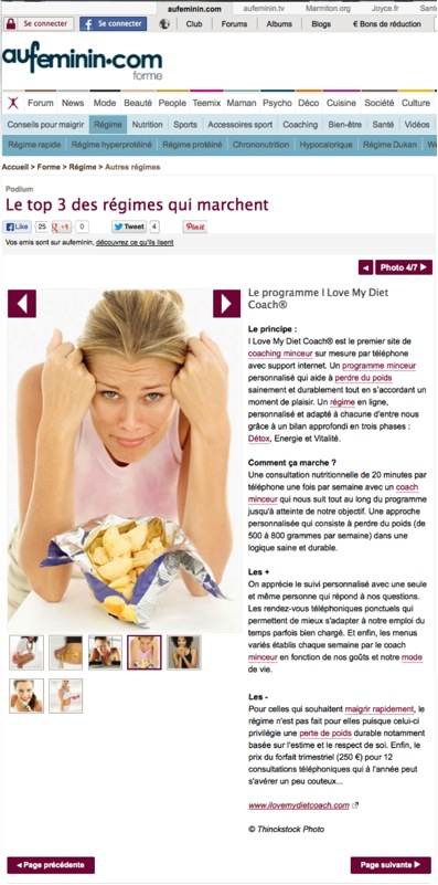 Le programme I Love My Diet Coach®